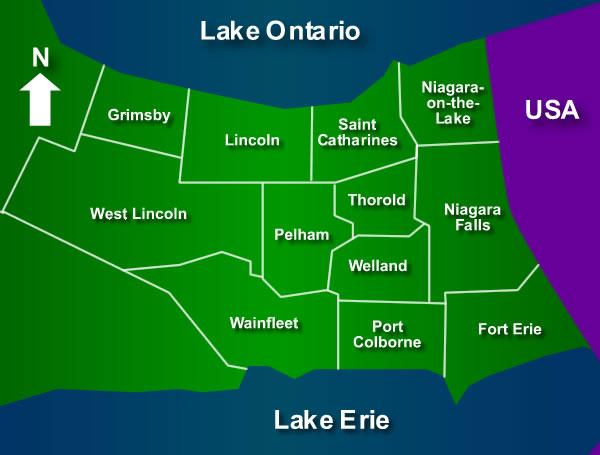 Niagara Region Map